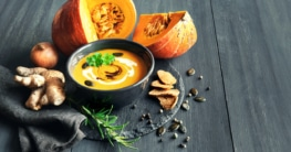 Kürbissuppe mit Ingwer
