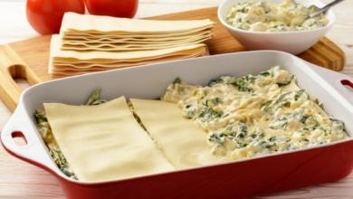 Feta Spinat Lasagne
